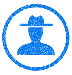 Farmer rounded grainy icon vector