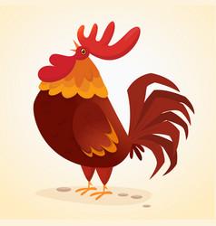 Fat cartoon rooster vector