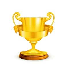 Gold trophy vector image vector image