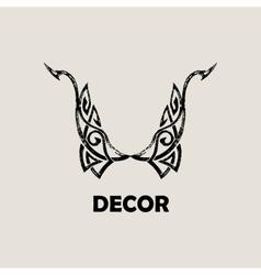 Grunge vintage emblem black decor abstract logo vector
