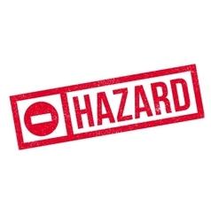 Hazard rubber stamp vector