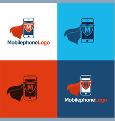 mobile phone logo vector image