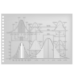 Paper art of standard deviation diagrams with samp vector