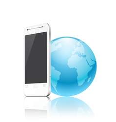 Phone and the earth vector
