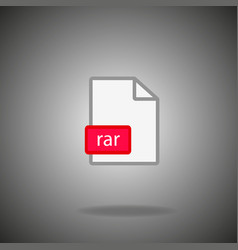 Rar archive file icon vector