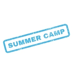 Summer camp rubber stamp vector