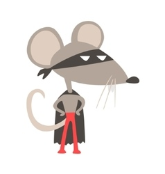 Rat animal dressed as superhero with a cape comic vector