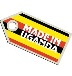 Made in Uganda vector image