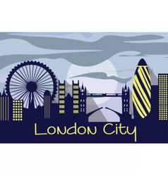 London city silhouette vector