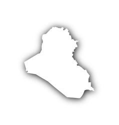 Map of iraq with shadow vector