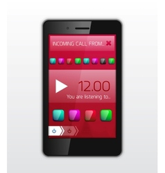 Mobile phone applications concept vector