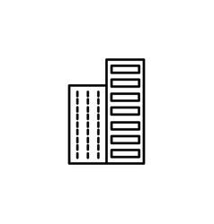 skyline icon vector image