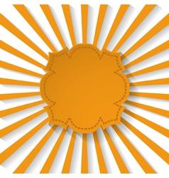 orange paper frame vector image