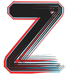 Abstract font letter z vector