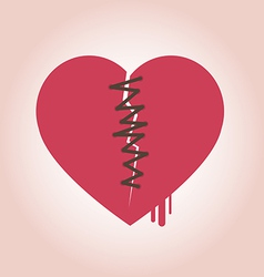 Heart broken icon vector