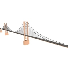 3D bridge City buildings view vector image vector image