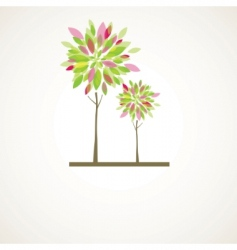 Ct tree flowers vector illustration vector