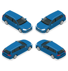 5-door hatchback car isolated isometric vector image vector image