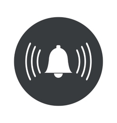 Monochrome round alarm icon vector