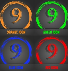 Number nine icon sign fashionable modern style in vector