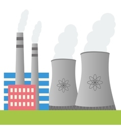 Nuclear power plant design vector
