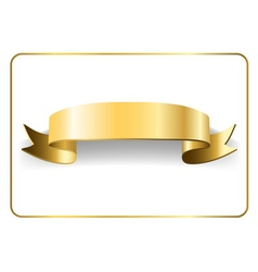 Gold satin ribbon on white 9 vector