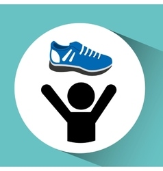 Person and sports shoes vector