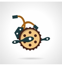 Bike crank flat icon vector