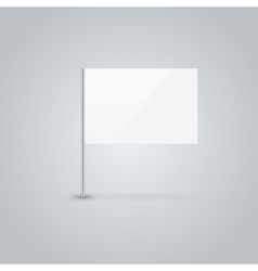 Blank flag vector image vector image