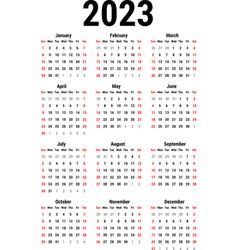 Calendar for 2023 vector