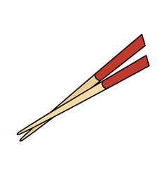 chopsticks element isolated icon vector image