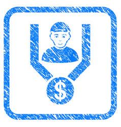 Client sales funnel framed stamp vector