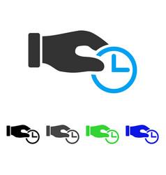 Clock properties flat icon vector