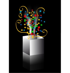 confetti out of the box vector image vector image