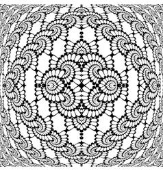 Design monochrome decorative interlaced pattern vector