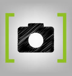 digital camera sign black scribble icon vector image