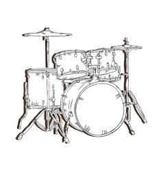 Drum set musical instrument vector
