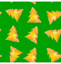 Festive seamless pattern Christmas tree on the vector image vector image