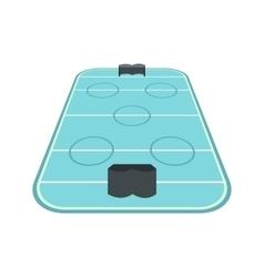 Ice hockey rink icon vector image