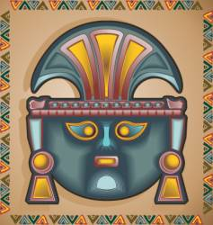 Inca mask vector image vector image