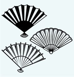 Japanese folding fan vector image vector image