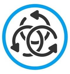 Knot rotation rounded icon vector