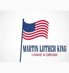 Martin luther king day holiday background vector
