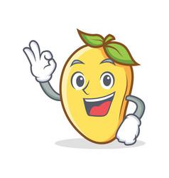 okay mango character cartoon mascot vector image
