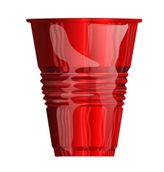 Red plastic cup vector