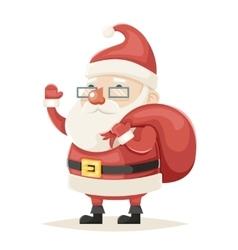 Santa claus character christmas new year isolated vector