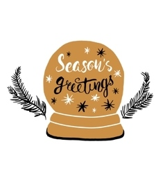 Seasons greeting- unique handwritten lettering vector image vector image