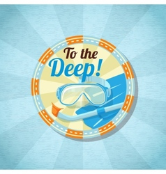 Summer diving stuff on the sand vector image vector image
