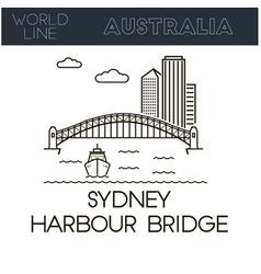 Sydney Harbour Bridg vector image