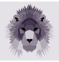 Violet low poly lion vector